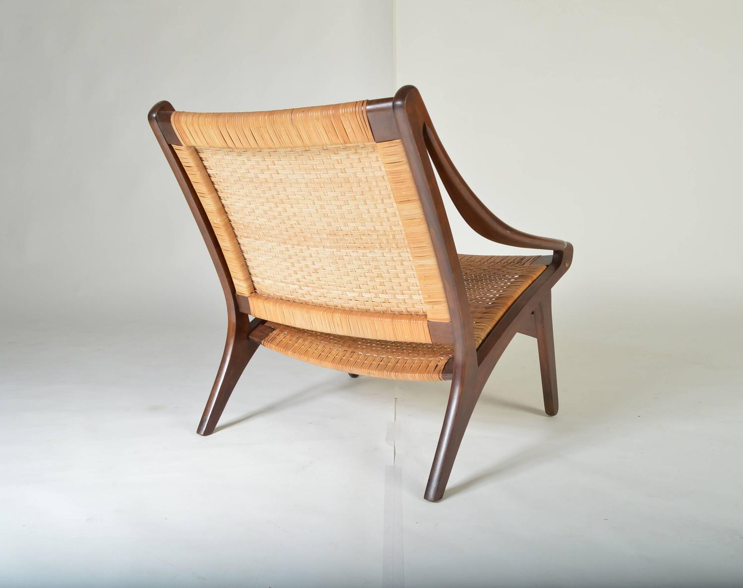 cane easy chair meditation amazon early ib kofod larsen walnut and for sale
