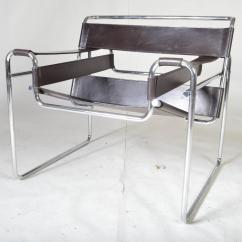 Wassily Chair Brown Leather Tommy Bahama Fold Up Instructions Vintage 1960s By Marcel Breuer For Gavina