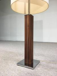 Mid-Century Nessen Table Lamp with Walnut and Chrome Base ...