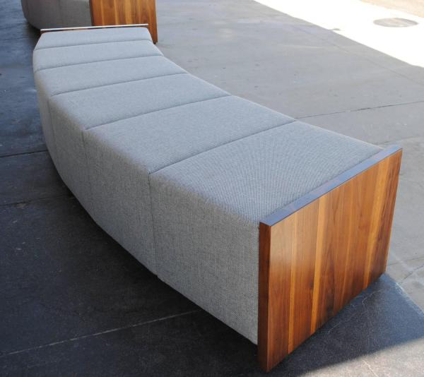 Upholstered Curved Bench