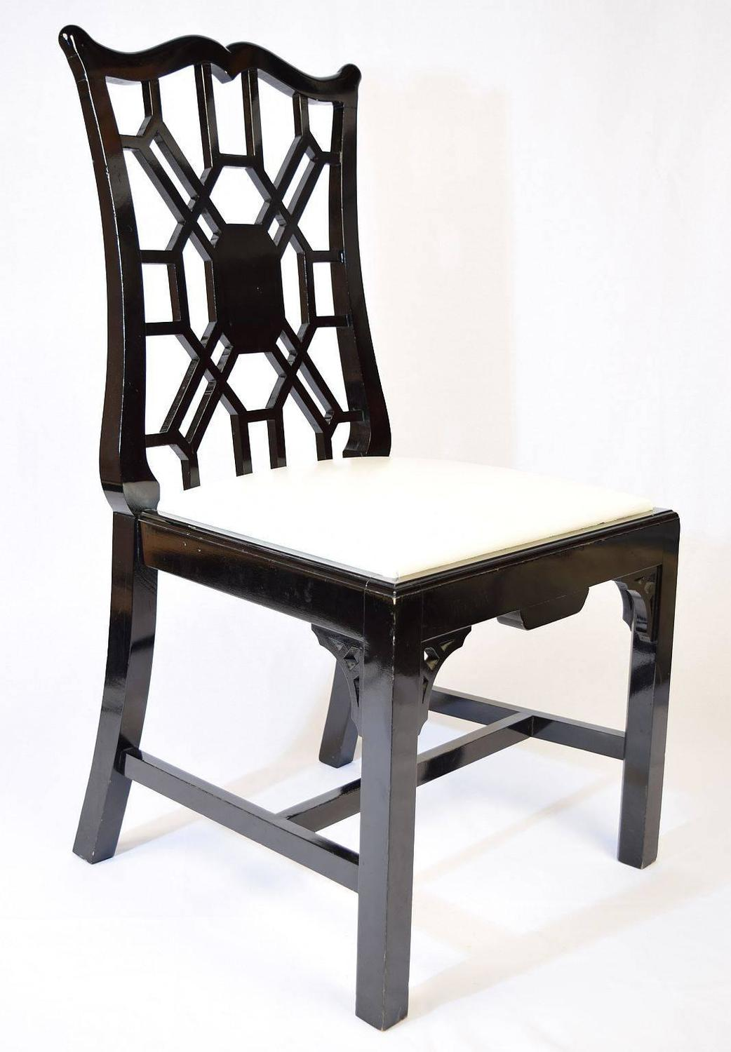Black Chairs For Sale Set Of Eight Black Lacquer Dining Chairs For Sale At 1stdibs