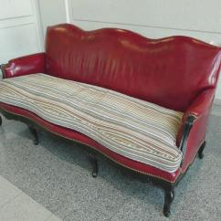 Brown Leather Studded Sofa Cover Australia Louis Xv Style Red Camelback With Paul Smith ...