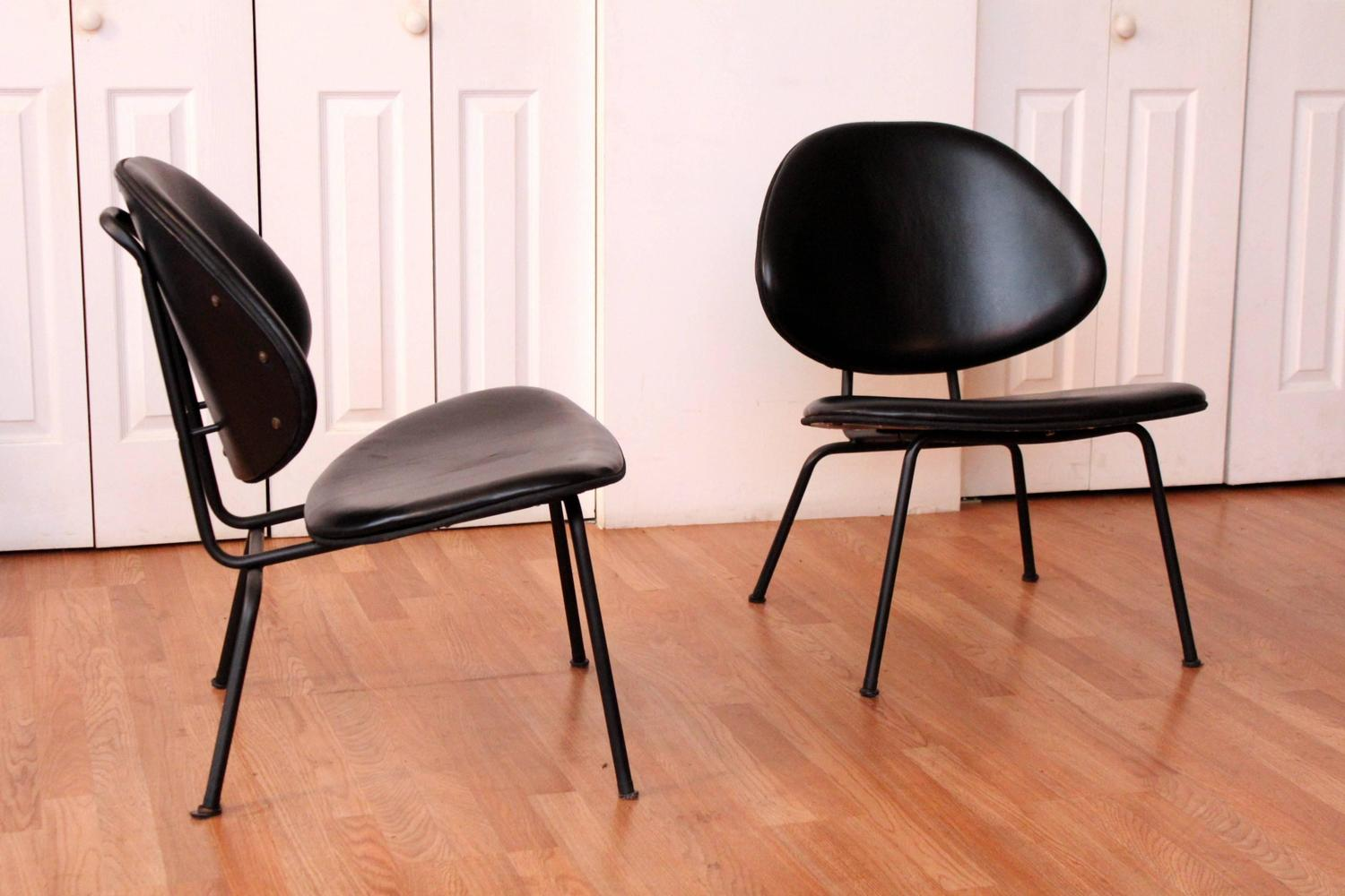 clam shell chair boat chairs folding homecrest black leather lounge for sale