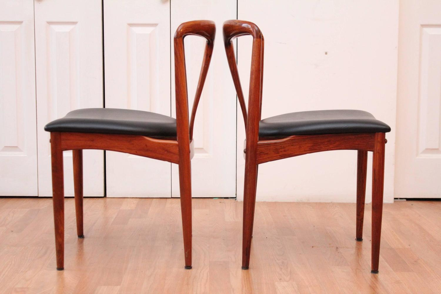 Due North Chairs Johannes Andersen 39juliane 39 Rosewood Mid Century Modern