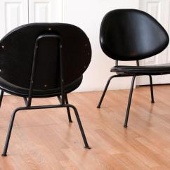 Clam Shell Chair Hanging New Zealand Homecrest Black Leather Lounge Chairs For Sale