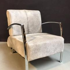 Cowhide Chairs Modern Revolving Dining Chair Lounge With Grey For Sale At 1stdibs