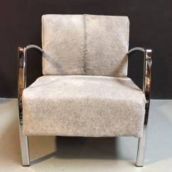 Cowhide Chairs Modern Homemade Fishing Chair Lounge With Grey For Sale At 1stdibs