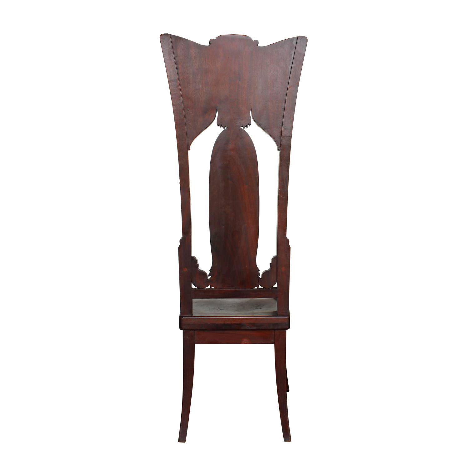 alice in wonderland chair big and tall dining room chairs pair of early 20th century transitional high back