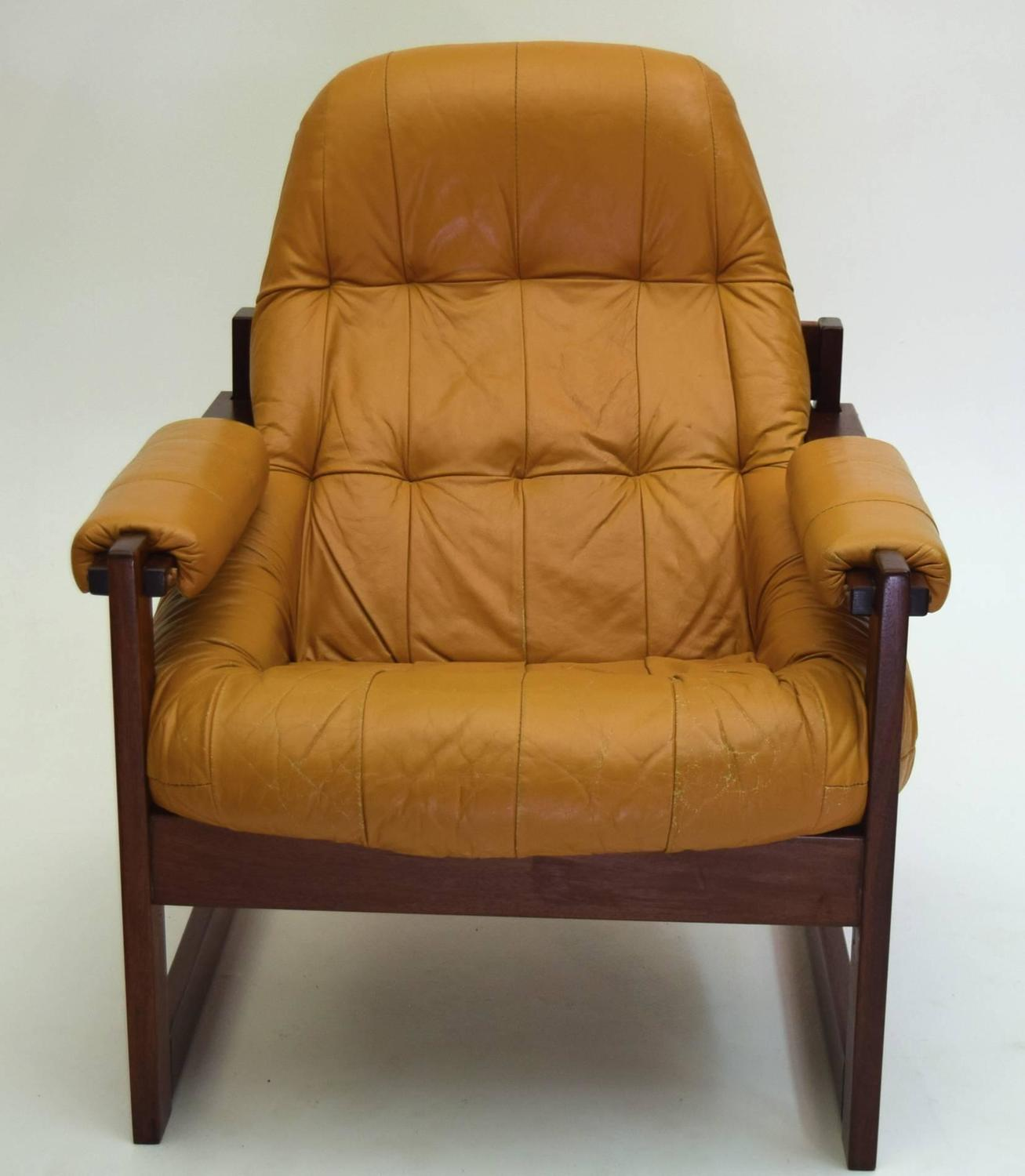 oversized leather chair and ottoman two person swing large lounge by percival lafer