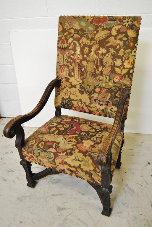 antique needlepoint chair justina hanging french with original upholstery for sale at 1stdibs