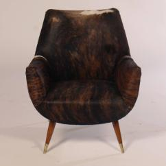 Cowhide Chairs Modern Desk Chair Wood Italian Mid Century Club Covered In