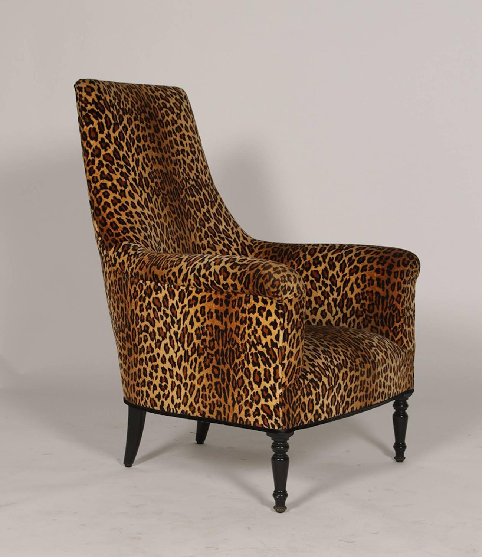 cheetah print folding chair weaving supplies uk pair of napoleon iii leopard club chairs at 1stdibs