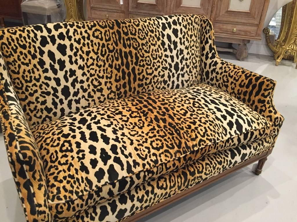 Cheetah Chair Mid Century Leopard Print Sofa For Sale At 1stdibs