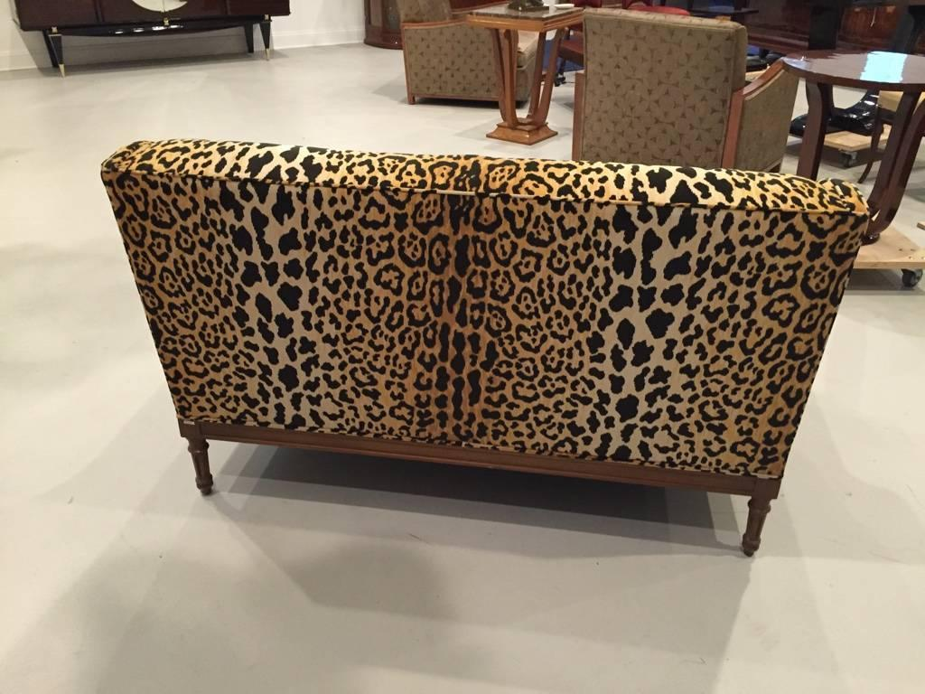 leopard print sofa appears bed in walmart mid century for sale at 1stdibs