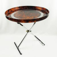 Mid-Century Modern Folding Tray Table Tortoise Lucite and ...