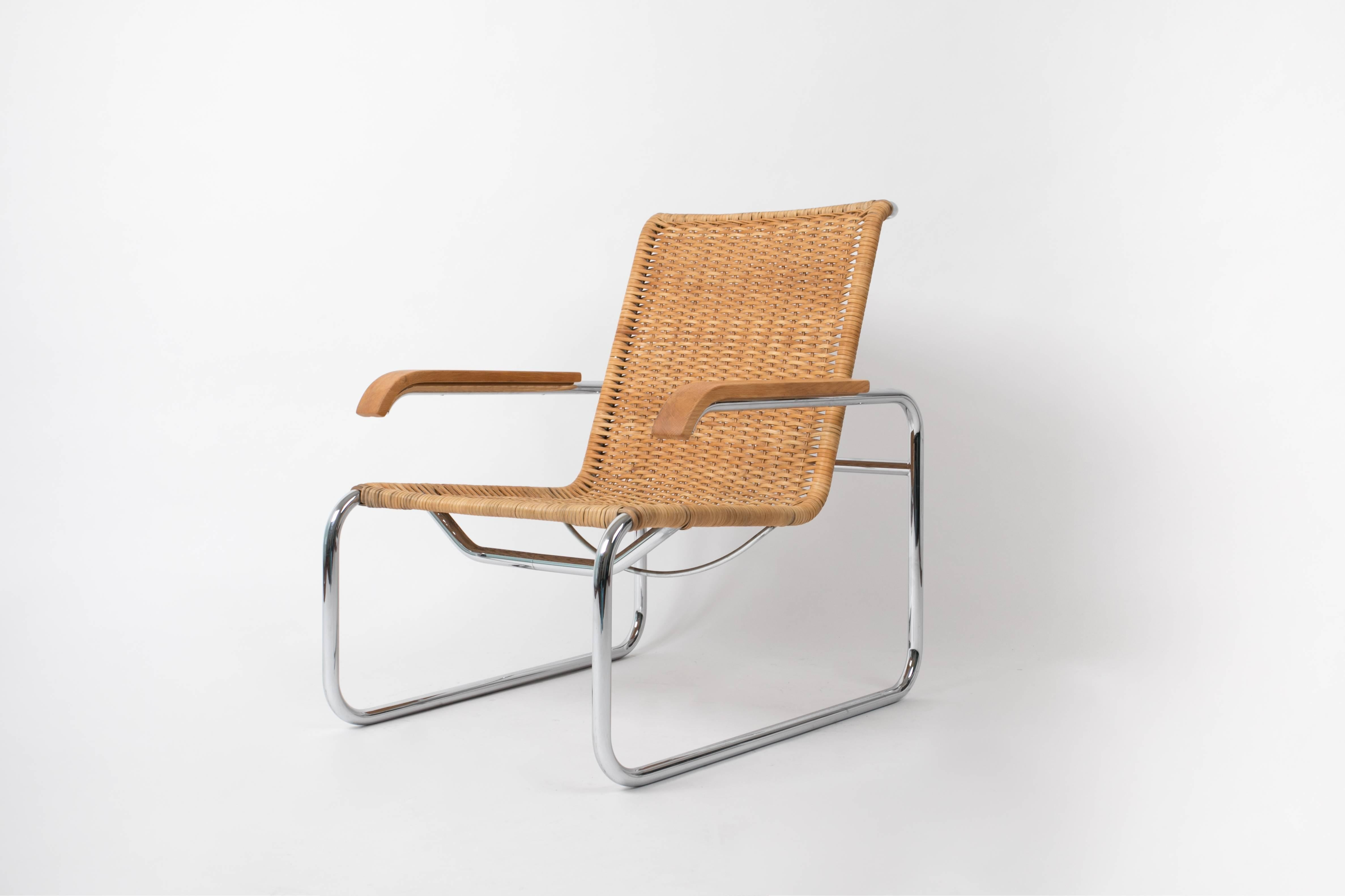 marcel breuer cesca chair with armrests folding top covers for thonet b35 rattan lounge at 1stdibs