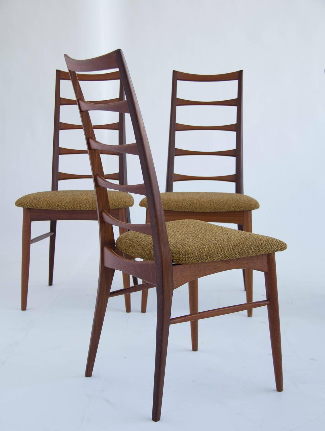 ladder back dining room chairs chair and table rental set of koefoeds hornslet teak