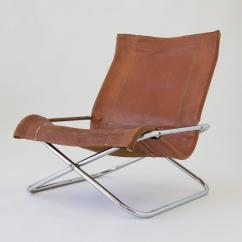 Sling Folding Chairs Royal Baby Shower Chair Sueki Uchida Leather For Sale At 1stdibs