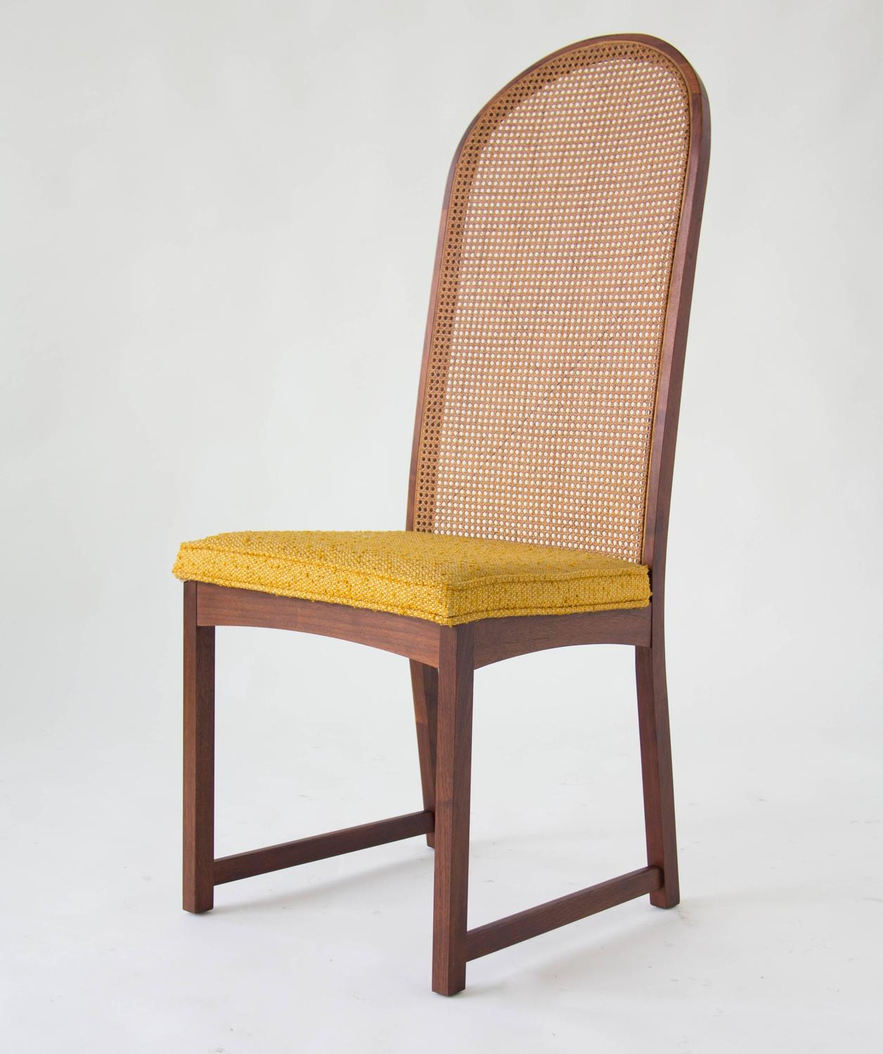 cane dining chairs for sale set of 6 room six high backed by milo baughman