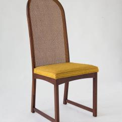 Cane Dining Chairs For Sale White Chair And Ottoman Set Of Six High Backed By Milo Baughman