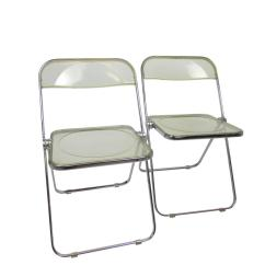 Acrylic Folding Chairs Room And Board Sabrina Chair Mid Century Lucite Plia At 1stdibs