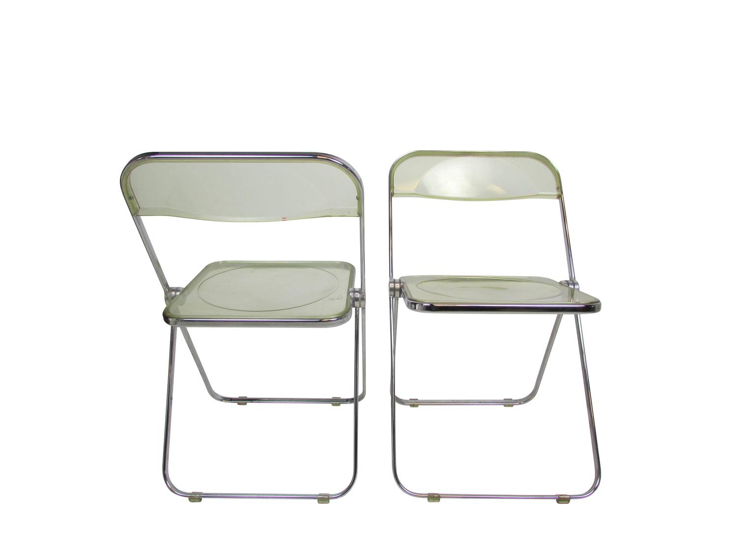 acrylic folding chairs swing on your chair mid century lucite plia at 1stdibs