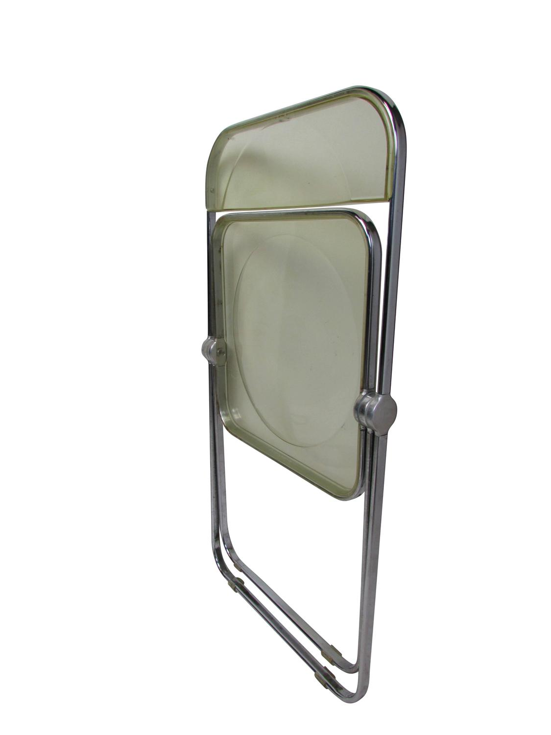 acrylic folding chairs wedding chair covers hire sydney mid century lucite plia at 1stdibs