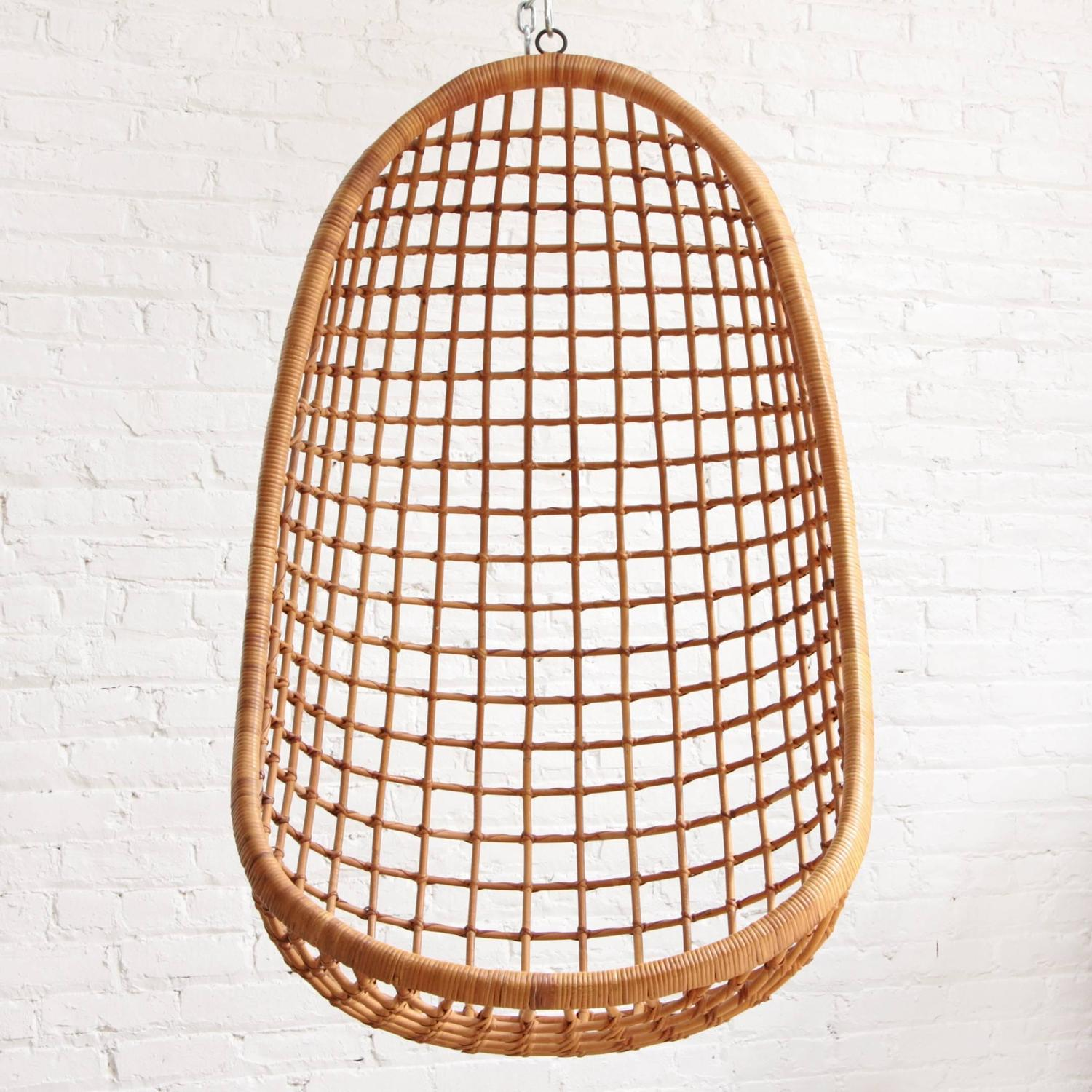 cane hanging chair new zealand brumby company rohe noordwolde rattan egg at 1stdibs