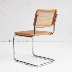 Marcel Breuer Cesca Chair With Armrests Flip Sleeper Chairs Chrome And Cane Dining At 1stdibs Mid Century Modern For