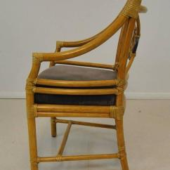 Cane Bottom Chairs Christopher Guy Chair Set Of Six Target Back Rattan By Mcguire At 1stdibs