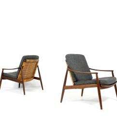 Cane Easy Chair Patio Furniture Lounge Amazing Pair Of 1950s Lohmeyer For Wilkhahn And Teak