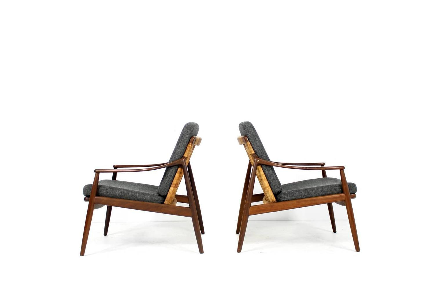 cane easy chair design comfortable amazing pair of 1950s lohmeyer for wilkhahn and teak