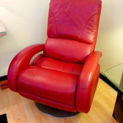 Lane Recliner Chairs Dining Room Table And Chair Set Red Leather By For Sale At 1stdibs