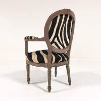 Vintage Louis XVI Armchair Reupholstered in Zebra Hide For ...