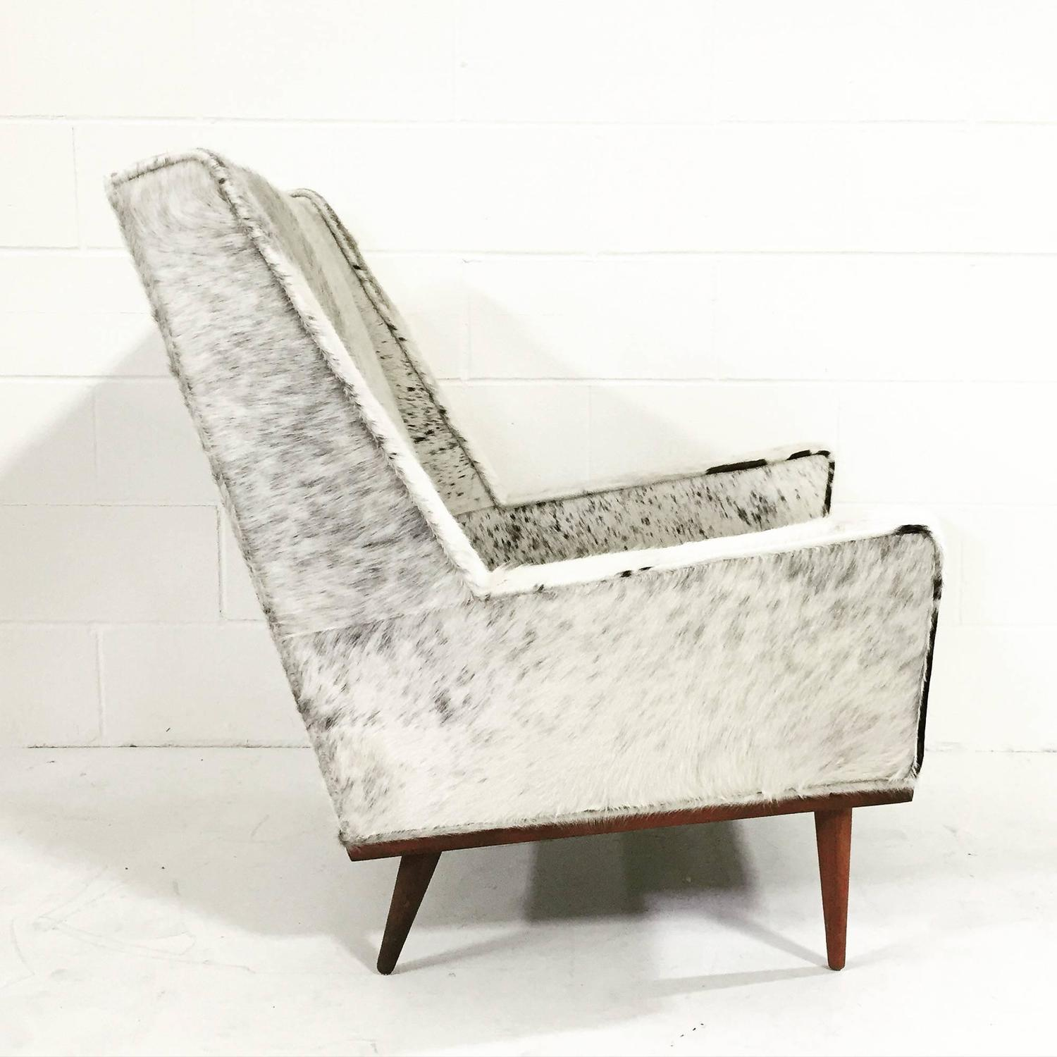 cowhide chairs modern table and chair rentals miami milo baughman style ottoman in brazilian