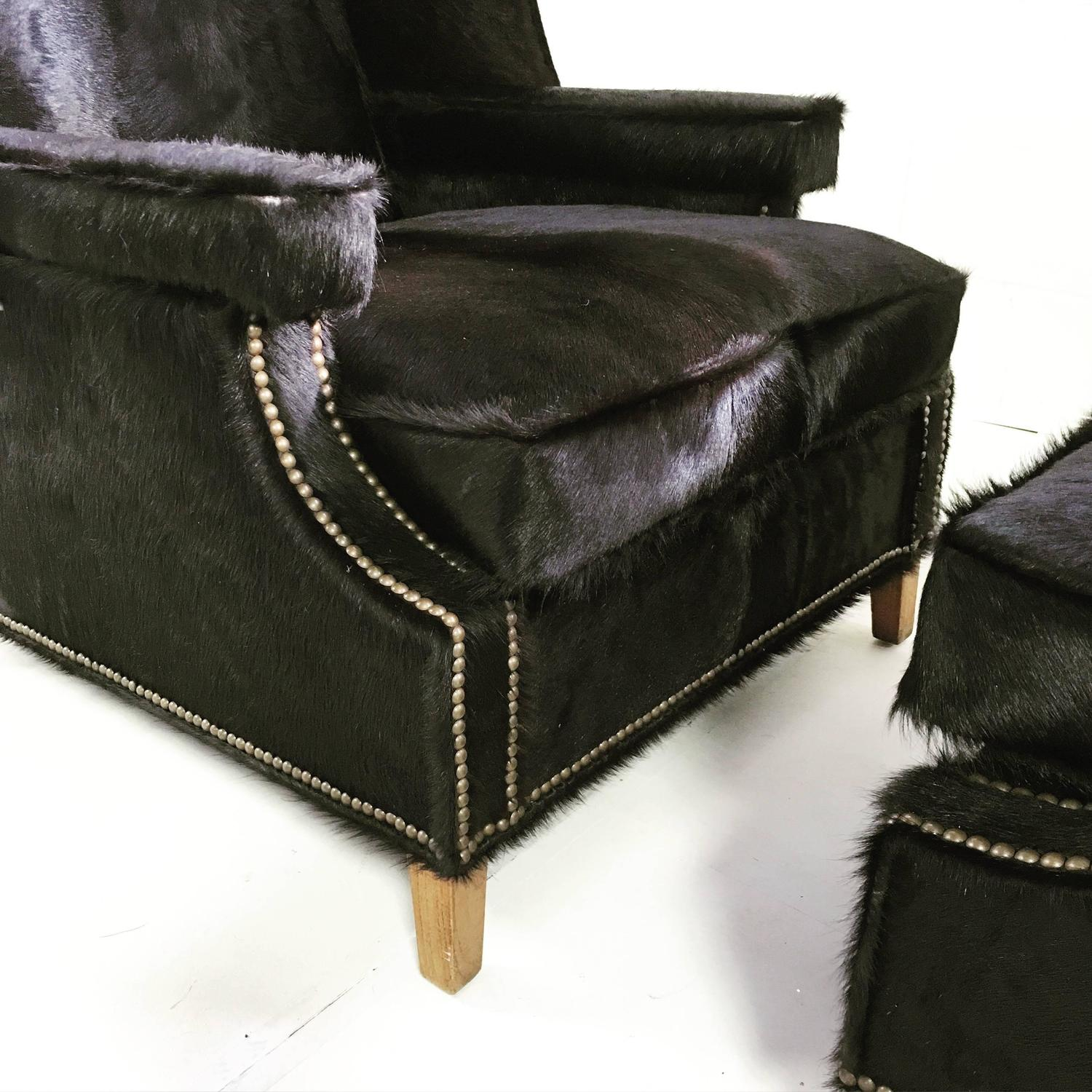 black and white cowhide chair no sew pockets vintage wingback chairs in natural brazilian