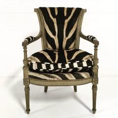 Cowhide Print Accent Chair Chairs For Teenage Rooms Vintage French Boudoir In Zebra Hide At 1stdibs