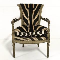 Zebra Print Chairs For Sale Gray Leather Recliner Chair Vintage French Boudoir In Hide At 1stdibs