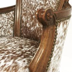 Cowhide Chairs Nz Free Standing Hammock Chair Vintage Swivel In Brown And White Speckled Brazilian