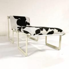 Black And White Cowhide Chair Office Under 200 Morrison Hannah For Knoll Ottoman In