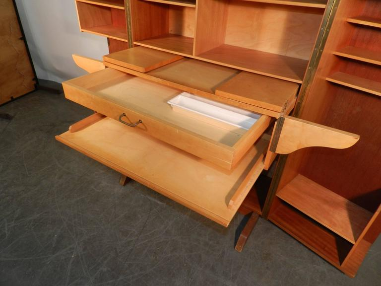1950 Compact Home Office Desk In Mahogany And Blond Wood