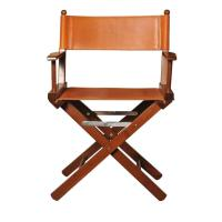 Cognac Leather Director's Chair For Sale at 1stdibs