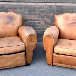 Art Deco Club Chairs Leather Green Dining Room Table And 1930s French Moustache Lounge Or For Sale At 1stdibs