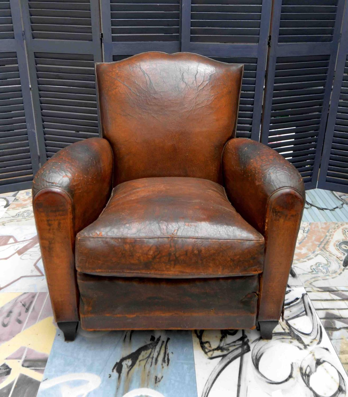small leather club chairs white lounge chair 1930s french art deco moustache