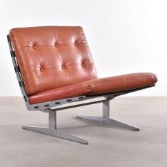 White Leather Slipper Chair Big Agnes Helinox One Paul Of Leidersdorff Lounge At 1stdibs