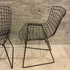 Bertoia Wire Chair Original Portable Dental India Pair Of Vintage Child Size Harry For Knoll