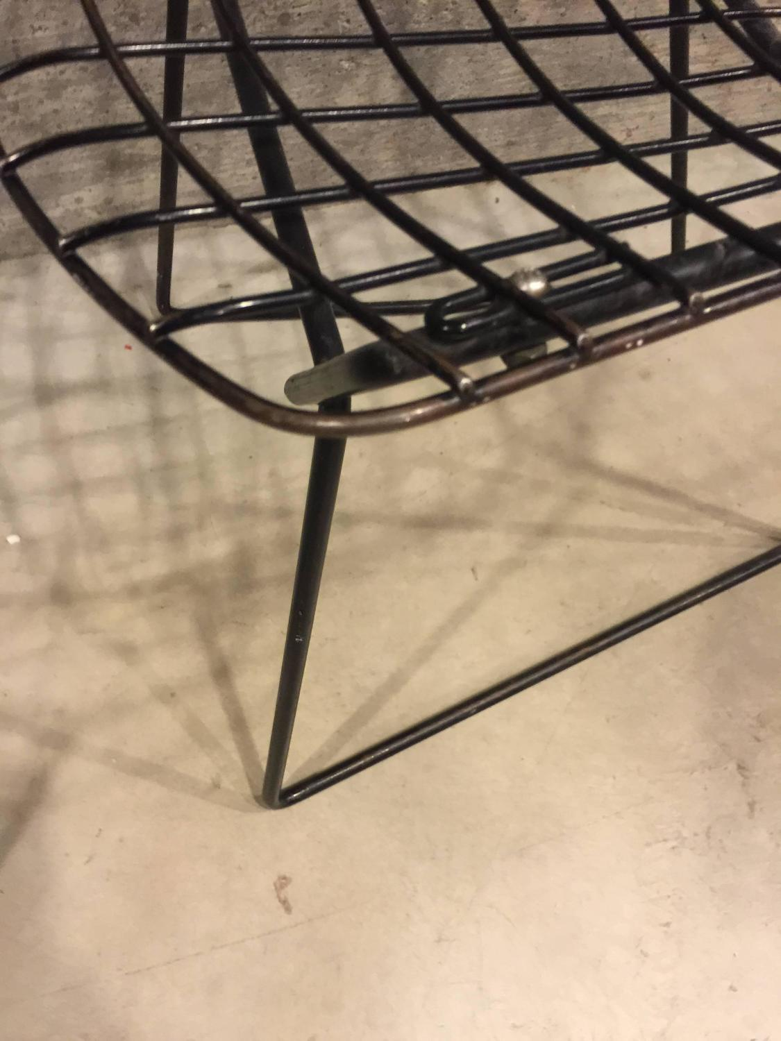 bertoia wire chair original ashley furniture leather pair of vintage child size harry for knoll