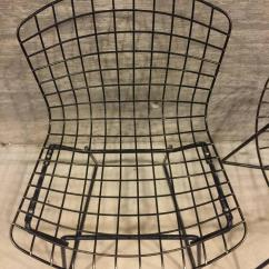 Bertoia Wire Chair Original Minnie Mouse Table And Set Pair Of Vintage Child Size Harry For Knoll