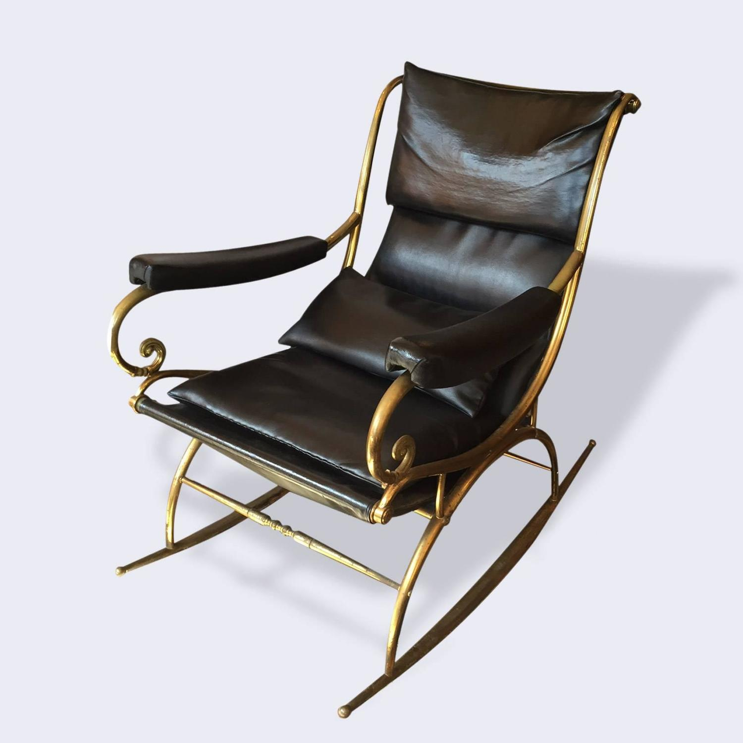 Rockin Chair Very Rare 19th Century Brass Rocking Chair With Minimal