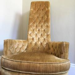 High Back Velvet Chair Pub Style Table And Chairs Big Lots Hollywood Regency Pair Of In Vintage